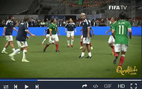 Ronaldinhos witzig-genialer Assist gegen die Mexican All Stars