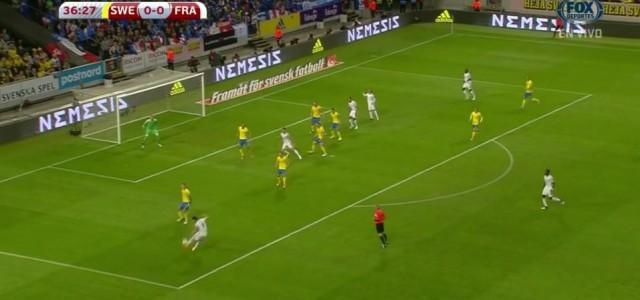 Olivier Girouds Supertor gegen Schweden