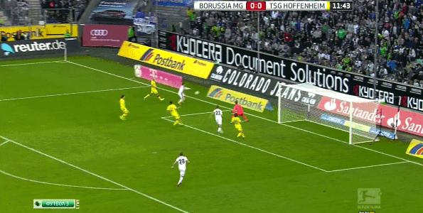 Tolles Kombinationstor von Borussia Mönchengladbach