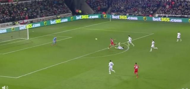 Jordan Hendersons (Liverpool) kurioses Tor gegen Swansea City