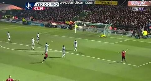 Ander Herrera (Man. United) erzielt ein Supertor im FA-Cup gegen Yeovil