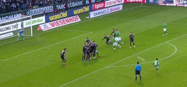 Zlatko Junuzovic mit einem Superfreistoß zum 2:0 gegen Bayer Leverkusen