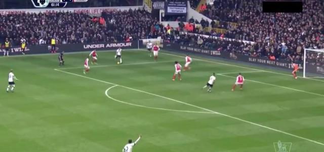 Tolle Tore im Derby zwischen Tottenham und Arsenal