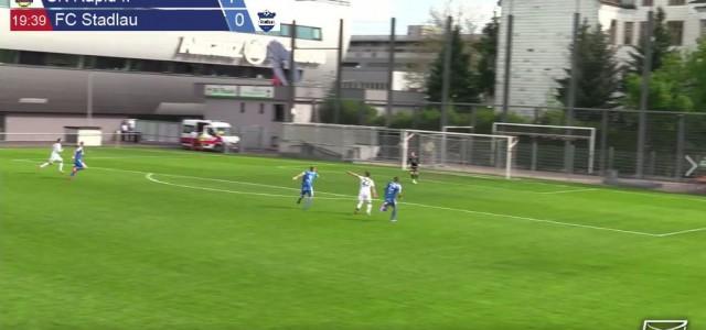 Dino Kovacec (SK Rapid II) gelingt ein unglaubliches Tor gegen Stadlau