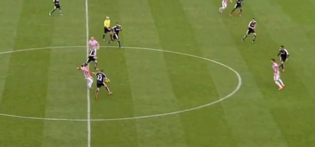 Bojan Krkic' (Stoke City) butterweiches Gurkerl gegen Watford