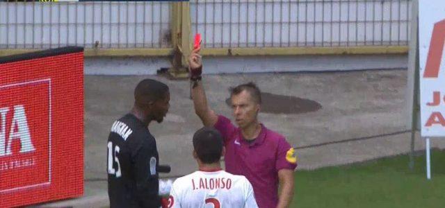 Rot für den Tormann, keine Wechsel mehr: Lille-Stürmer muss 30 Minuten ins Tor