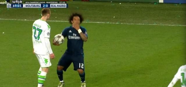 Goldene Himbeere incoming: Marcelos schauspielerische Einlage gegen Wolfsburg