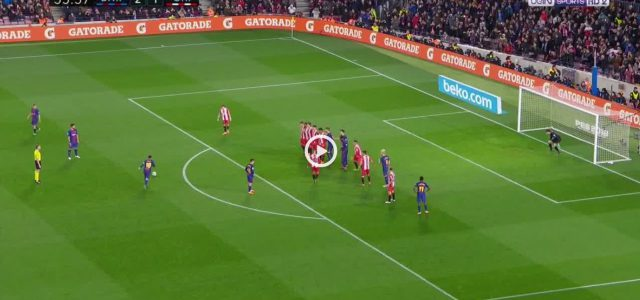 Messis sensationelles Freistoßtor gegen Girona