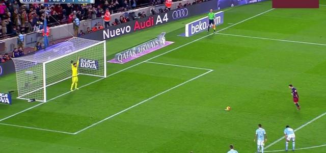 Extravaganter Barca-Treffer: Messi passt Elfmeter auf Suárez!
