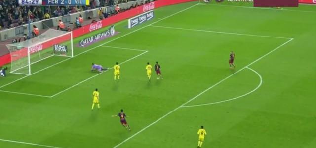 Toller Treffer von Neymar (FC Barcelona) gegen Villarreal