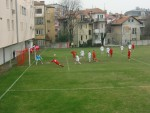 Hechtflugkopfball bei Hajduk Belgrad (Serbien)