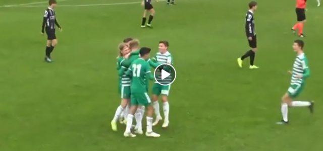 Rapid-U16-Spieler erzielt sensationelles Tor aus 50 Metern