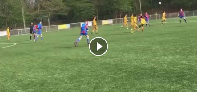 Sensationeller Rabona-Assist im Amateurbereich