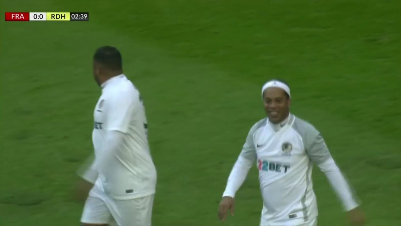 Ronaldinho zaubert gegen die Frankfurt-Allstars
