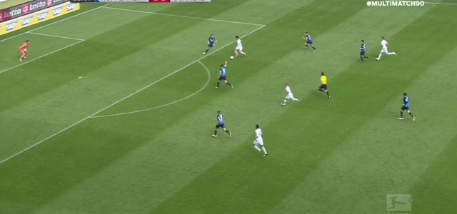 Schöner Treffer von Leroy Sane (Schalke 04) gegen Hoffenheim