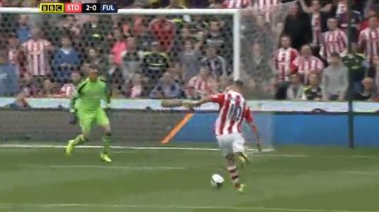 Die Galavorstellung von Marko Arnautovic (Stoke City) beim 4:1 gegen Fulham