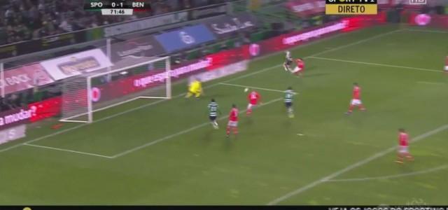 Sporting spielt Benfica aus, vergibt die 100%ige Chance und verliert mit 0:1…