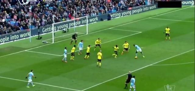 """Manchester Citys viertes Tor gegen Aston Villa, oder: """"Wie man nicht verteidigt"""""""