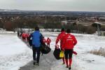 Die Kicker aus Kapfenberg im verschneiten Lindabrunn (by StopGlazer)
