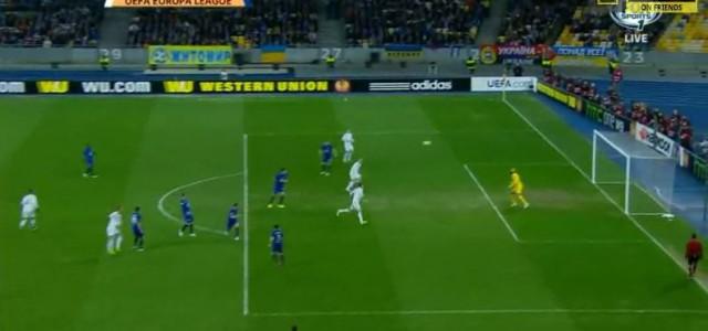 Yarmolenkos toller Treffer für Dynamo Kiev gegen den FC Everton